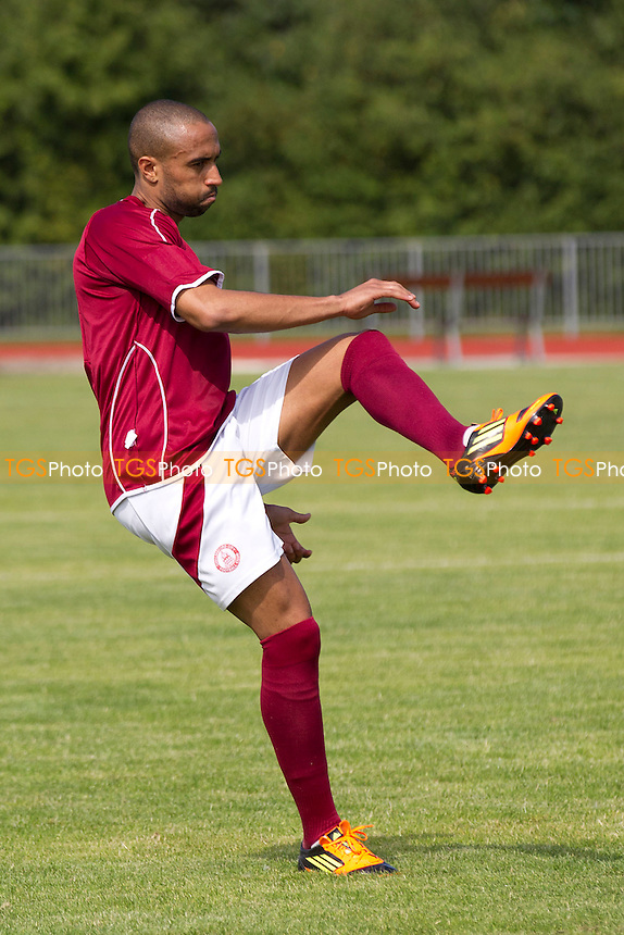 Nicholas Bondon pre match for Chelmsford City - Chelmsford City vs Boston United - Friendly Football Match at Melbourne Park Stadium, Chelmsford, Essex - 11/08/12 - MANDATORY CREDIT: Ray Lawrence/TGSPHOTO - Self billing applies where appropriate - 0845 094 6026 - contact@tgsphoto.co.uk - NO UNPAID USE.