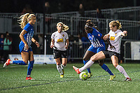 Allston, MA - Saturday Sept. 24, 2016: Eunice Beckmann, Samantha Mewis during a regular season National Women's Soccer League (NWSL) match between the Boston Breakers and the Western New York Flash at Jordan Field.