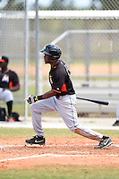 Miami Marlins outfielder Kentrell Dewitt (7) during a minor league spring training game against the New York Mets on March 28, 2014 at the Roger Dean Stadium Complex in Jupiter, Florida.  (Mike Janes/Four Seam Images)