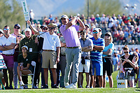 Tom Hoge (USA) In action during the final round of the Waste Management Phoenix Open, TPC Scottsdale, Phoenix, Arizona, USA. 01/02/2020<br /> Picture: Golffile | Phil INGLIS<br /> <br /> <br /> All photo usage must carry mandatory copyright credit (© Golffile | Phil Inglis)