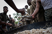 Breakfast is served to the training commandoes in Chhattisgarh's first Counter-terrorism and Jungle Warfare College in Kanker, 145 km from state capital Raipur in Chattisgarh, India.  Photograph: Sanjit Das/Panos for Bloomberg Businessweek