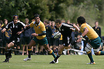 Mike Harris playing for New Zealand Secondary Schools against Australia at Auckland Grammar School on the 10th of October 2006. New Zealand won 18 - 8.<br />