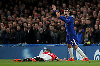 Alvaro Morata of Chelsea starts to celebrate and then realises his goal was disallowed during Chelsea vs Manchester United, Premier League Football at Stamford Bridge on 5th November 2017