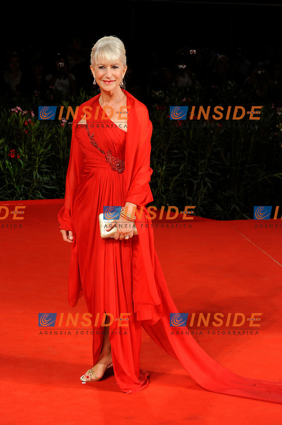 """- """"67 Mostra Internazionale D'Arte Cinematografica"""". Saturday,2010 September 11, Venice ITALY....- In The Picture: The actress Helen Mirren on the red carpet for the film """"THE TEMPEST""""......Photo STEFANO MICOZZI"""