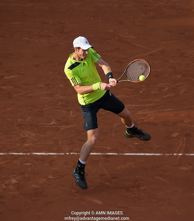 ANDY MURRAY (GBR)<br /> <br /> Tennis - French Open 2014 -  Toland Garros - Paris -  ATP-WTA - ITF - 2014  - France <br /> 31st  May 2014. <br /> <br /> &copy; AMN IMAGES