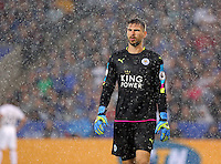 Pictured: Ron-Robert Zieler of Leicester City Saturday 27 August 2016<br />Re: Swansea City FC v Leicester City FC Premier League game at the King Power Stadium, Leicester, England, UK