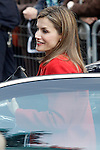 Queen Letizia of Spain visit the Academy of Artillery of Segovia.April 13,2014. (ALTERPHOTOS/Acero)