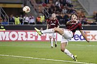 gol Patrick Cutrone Milan Goal celebration 3-2 <br /> Milano 28-09-2017 Stadio Giuseppe Meazza Football Europa League 2017/2018 Group D Milan - Rijeka Foto Image/Insidefoto