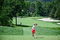 Carlota Ciganda (ESP) watches her tee shot on 2 during Saturday's third round of the 72nd U.S. Women's Open Championship, at Trump National Golf Club, Bedminster, New Jersey. 7/15/2017.<br /> Picture: Golffile | Ken Murray<br /> <br /> <br /> All photo usage must carry mandatory copyright credit (&copy; Golffile | Ken Murray)