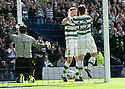 :: CELTIC'S SHAUN MALONEY CELEBRATES WITH CELTIC'S MARK WILSON AFTER HE HAS AN EASY TAP IN FOR CELTIC'S FOURTH ::