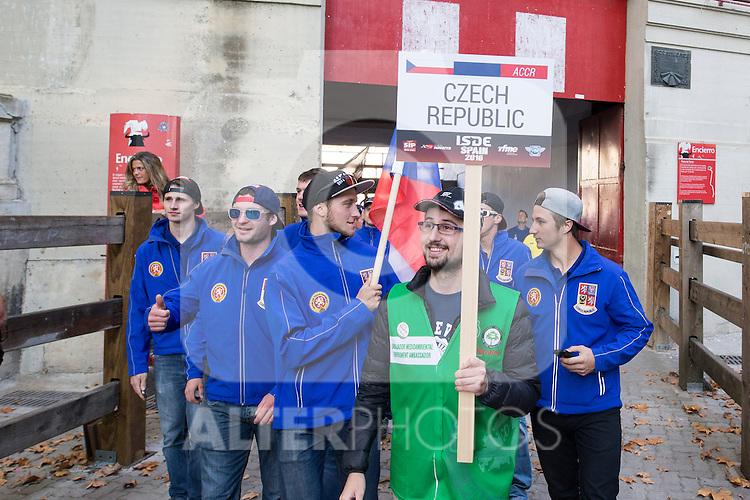 Czech Republic enduro team during the presentation of the FIM international six days of enduro 2016 in Pamplona, Spain. October 09, 2016. (ALTERPHOTOS/Rodrigo Jimenez)