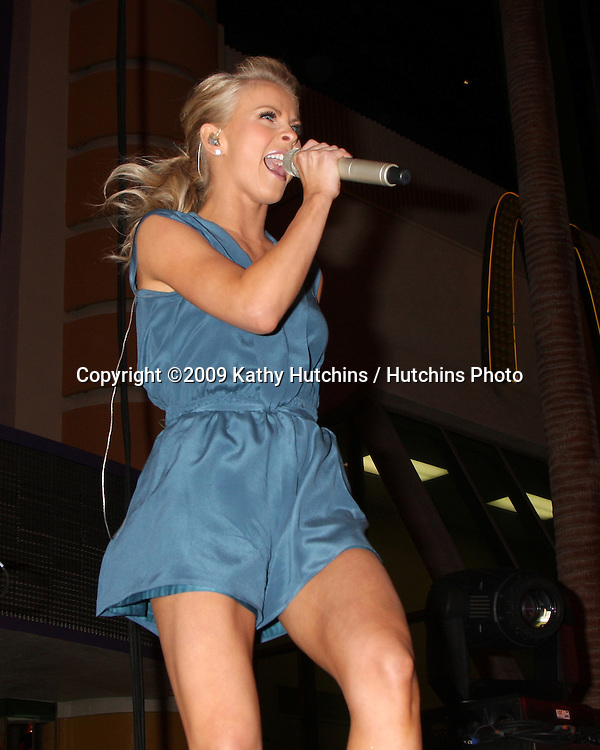 Julianne Hough performing at the ACM Showcase on Fremont Street in  Las Vegas, NV on April 3, 2009.©2009 Kathy Hutchins / Hutchins Photo....                .
