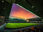 01.12.2019 Rangers v Hearts: Sunset during the second half at Ibrox Stadium