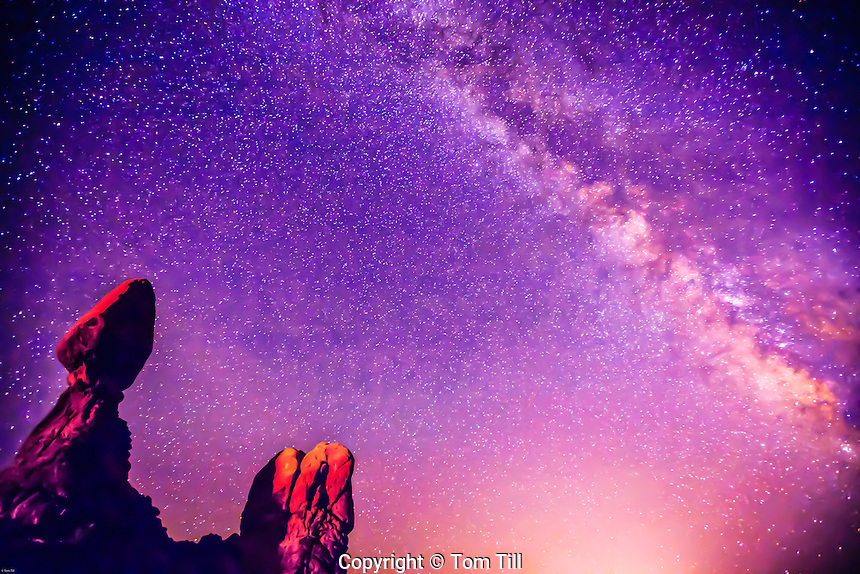 Balanced Rock and Milky Way, Arches National Park, Utah