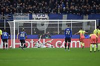 Gabriel Jesus of Manchester City fails a penalty <br /> Milano 06-11-2019 Stadio San Siro <br /> Football Champions League 2019/2020 Group C <br /> Atalanta - Manchester City <br /> Photo Andrea Staccioli / Insidefoto