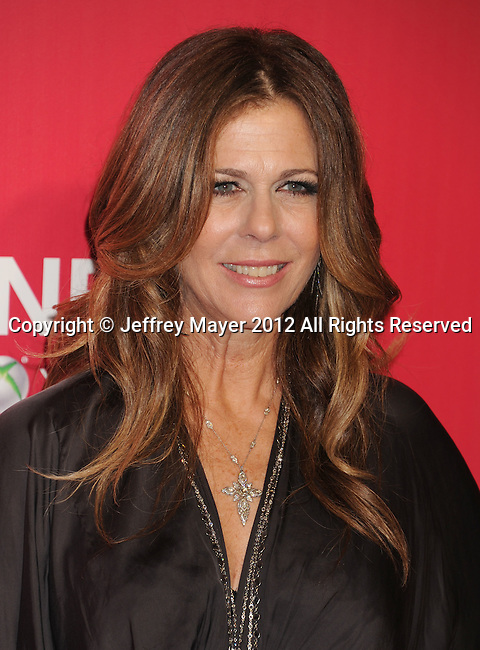 LOS ANGELES, CA - FEBRUARY 10: Rita Wilson arrives at The 2012 MusiCares Person of The Year Gala Honoring Paul McCartney at Los Angeles Convention Center on February 10, 2012 in Los Angeles, California.
