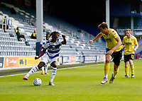 18th July 2020; The Kiyan Prince Foundation Stadium, London, England; English Championship Football, Queen Park Rangers versus Millwall; Osman Kakay of Queens Park Rangers being marked by Jake Cooper of Millwall