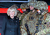 "29.01.2013,Bulford Camp, UK: CAMILLA, DUCHESS OF CORNWALL.Royal Colonel, 4th Battalion, The Rifles, visited the Battalion during its pre-deployment training. .She watched some mission-specific training, opened the Officers' Mess and joined soldiers and their families at a reception at Bulford Camp, Wiltshire..Mandatory Credit Photo: ©R Watt/NEWSPIX INTERNATIONAL..**ALL FEES PAYABLE TO: ""NEWSPIX INTERNATIONAL""**..IMMEDIATE CONFIRMATION OF USAGE REQUIRED:.Newspix International, 31 Chinnery Hill, Bishop's Stortford, ENGLAND CM23 3PS.Tel:+441279 324672  ; Fax: +441279656877.Mobile:  07775681153.e-mail: info@newspixinternational.co.uk"