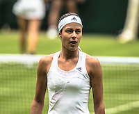 Ana Ivanovic<br /> <br /> Tennis - The Championships Wimbledon  - Grand Slam -  All England Lawn Tennis Club  2013 -  Wimbledon - London - United Kingdom - Wednesday 26th June  2013. <br /> &copy; AMN Images, 8 Cedar Court, Somerset Road, London, SW19 5HU<br /> Tel - +44 7843383012<br /> mfrey@advantagemedianet.com<br /> www.amnimages.photoshelter.com<br /> www.advantagemedianet.com<br /> www.tennishead.net