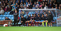 Scunthorpe United manager Stuart McCall, left, watches on from his technical area<br /> <br /> Photographer Chris Vaughan/CameraSport<br /> <br /> The EFL Sky Bet League One - Scunthorpe United v Peterborough United - Saturday 13th October 2018 - Glanford Park - Scunthorpe<br /> <br /> World Copyright &copy; 2018 CameraSport. All rights reserved. 43 Linden Ave. Countesthorpe. Leicester. England. LE8 5PG - Tel: +44 (0) 116 277 4147 - admin@camerasport.com - www.camerasport.com