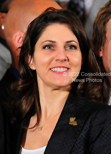 Rita Benson LeBlanc, part-owner and Executive Vice President of the the Super Bowl Champion New Orleans Saints at the East Room ceremony to honor their 2009 season where United States President Barack Obama welcomed the team to the White House in Washington, D.C. on Monday, August 9, 2010..Credit: Ron Sachs / Pool via CNP