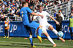 14 December 2014: Virginia's Scott Thomsen (6) and UCLA's Felix Vobejda (GER) (7). The University of Virginia Cavaliers played the University of California Los Angeles Bruins at WakeMed Stadium in Cary, North Carolina in the 2014 NCAA Division I Men's College Cup championship match. Virginia won the championship by winning the penalty kick shootout 4-2 after the game ended in a 0-0 tie after overtime.