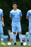23 September 2016: North Carolina's David October (ENG). The University of North Carolina Tar Heels hosted the Boston College Eagles in Chapel Hill, North Carolina in a 2016 NCAA Division I Men's Soccer match. UNC won the game 5-0.