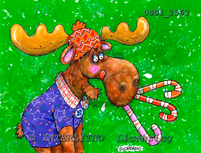 GIORDANO, CHRISTMAS ANIMALS, WEIHNACHTEN TIERE, NAVIDAD ANIMALES, paintings+++++,USGI2563,#XA#