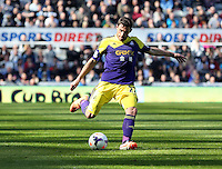Pictured: Angel Rangel of Swansea. Saturday 19 April 2014<br /> Re: Barclay's Premier League, Newcastle United v Swansea City FC at St James Park, Newcastle, UK.