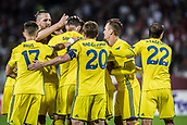14th September 2017, Red Star Stadium, Belgrade, Serbia; UEFA Europa League Group stage, Red Star Belgrade versus BATE; The players of BATE celebrate the goal from Nikolai Signevich