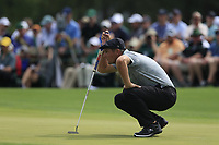 Bryson DeChambeau (USA) on the 2nd green during the 2nd round at the The Masters , Augusta National, Augusta, Georgia, USA. 12/04/2019.<br /> Picture Fran Caffrey / Golffile.ie<br /> <br /> All photo usage must carry mandatory copyright credit (© Golffile | Fran Caffrey)