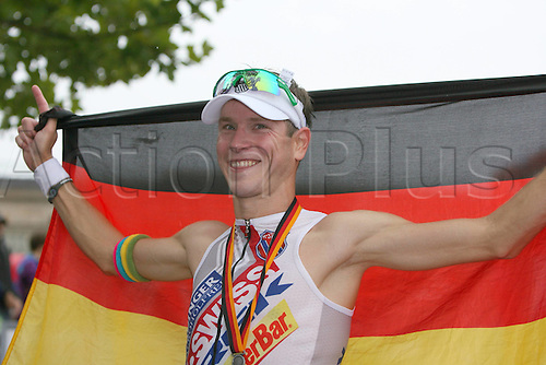 15 08 2010  Triathlon ITU World Championship Ironman event Wiesbaden. Michael Raelert ger men Triathlon Wiesbaden euro