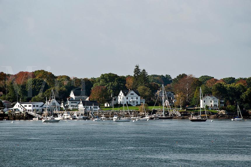 Boat scenic, New Castle, New Hampshire, NH, USA