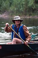 USA, Alaska, Bootsfahrer in Chena Hot Springs bei Fairbanks