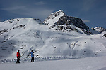 Balmengrat rope tow on the Der Weise Ring at Zurs Ski Areas, St Anton, Austria