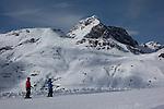 Balmengrat rope tow on the Der Weise Ring at Zurs Ski Areas, St Anton, Austria