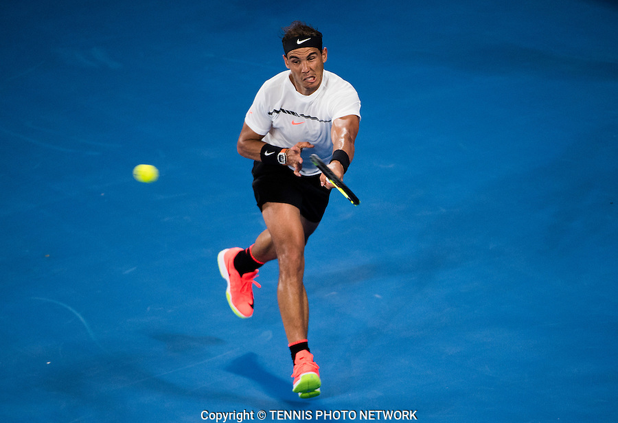 RAFAEL NADAL (ESP)<br /> <br /> TENNIS , AUSTRALIAN OPEN,  MELBOURNE PARK, MELBOURNE, VICTORIA, AUSTRALIA, GRAND SLAM, HARD COURT, OUTDOOR, ITF, ATP, WTA<br /> <br /> &copy; TENNIS PHOTO NETWORK