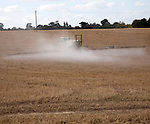 Chemical sprayer spraying field