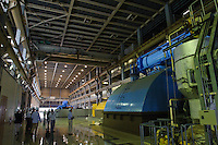 Turbine room, J-Power Isogo plant, Yokohama, Japan, September 29 2009. J-Power's coal burning power station near Tokyo is one of the most advanced and efficient in the world.