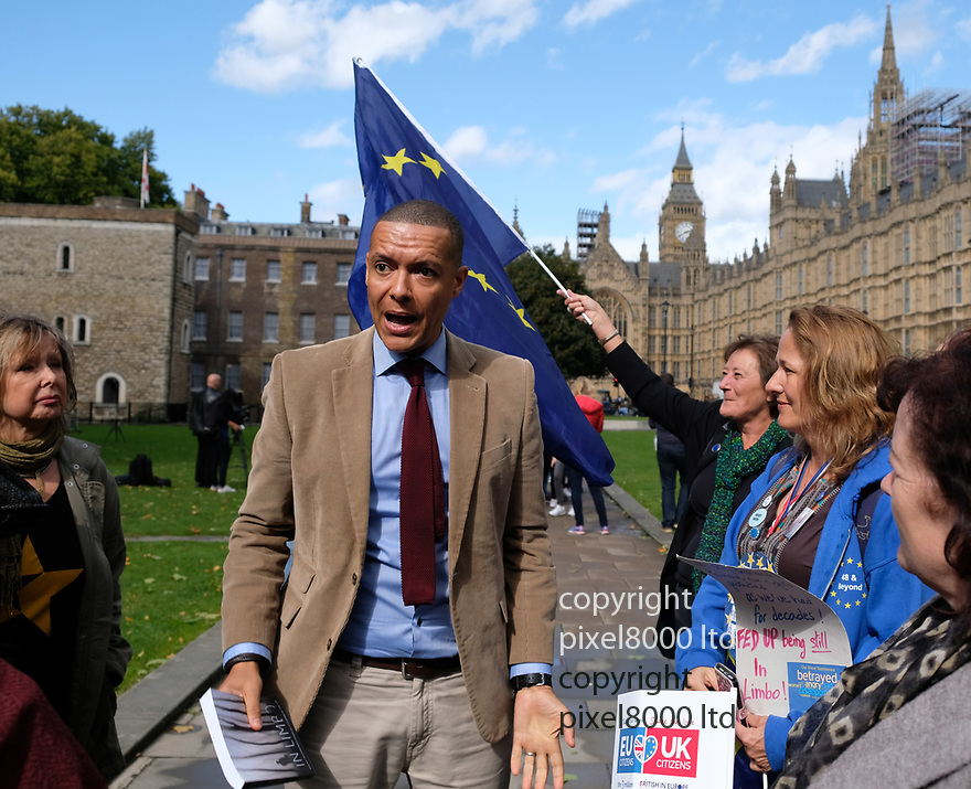 Pic shows: Clive Lewis - labour giving a speech about his opposition to Brexit outside the commons today.<br /> <br /> <br /> <br /> <br /> Pic by Gavin Rodgers/Pixel 8000 Ltd
