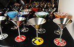 A table full of martini glasses at Martini Madness at the Center for Contemporary Craft Thursday Jan. 22,2015.(Dave Rossman For the Chronicle)