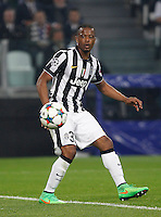 Calcio, quarti di finale di andata di Champions League: Juventus vs Monaco. Torino, Juventus stadium, 14 aprile 2015.<br /> Juventus' Patrice Evra in action during the Champions League quarterfinals first leg football match between Juventus and Monaco at Juventus stadium, 14 April 2015.<br /> UPDATE IMAGES PRESS/Isabella Bonotto