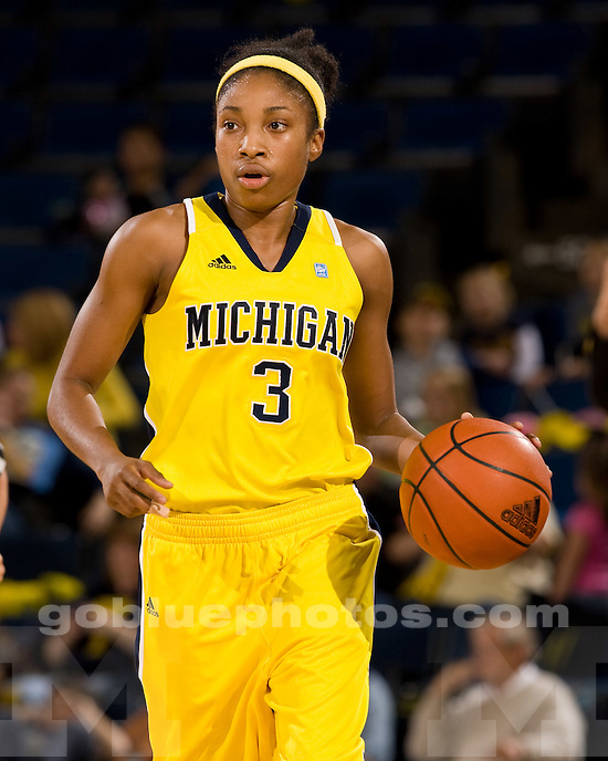 University of Michigan women's basketball 88-43 victory over Alcorn State at Crisler Arena in Ann Arbor, MI, on November 12, 2010.