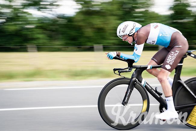 Romain Bardet (FRA/AG2R-LaMondiale)<br /> <br /> Stage 4 (ITT): Roanne to Roanne (26.1km)<br /> 71st Critérium du Dauphiné 2019 (2.UWT)<br /> <br /> ©kramon