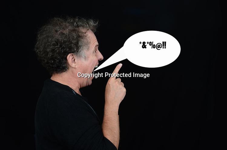 Stock photo of yelling man