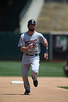 OAKLAND, CA - JULY 19:  Joe Mauer #7 of the Minnesota Twins runs the bases during the game against the Oakland Athletics at O.co Coliseum on Sunday, July 19, 2015 in Oakland, California. Photo by Brad Mangin