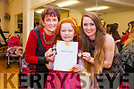It was the Annual Awards night at the Tenacity School of Performing Arts in Moyderwell on Friday.<br /> Student Mairead O&rsquo;Mahony who received at outstanding student of the year award pictured with instructors Geraldine and Joanne O&rsquo;Connor.