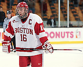Pete MacArthur (BU - 16) - The University of Vermont Catamounts defeated the Boston University Terriers 3-1 in their Hockey East semi-final on Friday, March 21, 2008, at the TD BankNorth Garden in Boston, Massachusetts.