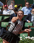 May 25, 2016:  Simone Halep (ROU) defeated Zarina Diyas (KAZ) 7-6, 6-2, at Roland Garros being played at Stade Roland Garros in Paris, .  ©Leslie Billman/Tennisclix/CSM