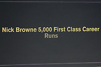 The scoreboard shows that Nick Browne has reached 5000 first class runs during Essex CCC vs Nottinghamshire CCC, Specsavers County Championship Division 1 Cricket at The Cloudfm County Ground on 15th May 2019